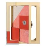 Люки под плитку - ЛТ Премиум, замок с ключом, дверца приоткрыта